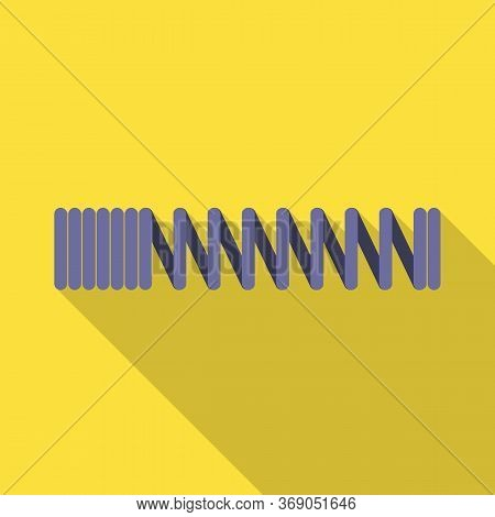 Vector Design Of Coil And Metal Icon. Web Element Of Coil And Steel Stock Symbol For Web.