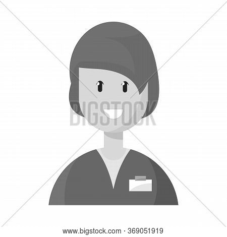 Vector Illustration Of Physician And Druggist Sign. Collection Of Physician And Pharmacist Vector Ic