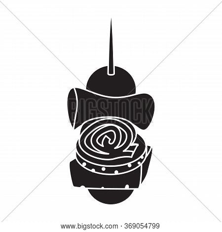 Canape Vector Icon.black Vector Icon Isolated On White Background Canape.