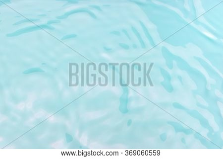 Blue Clear Water With Fine Ripples, The Waves, A Natural Background