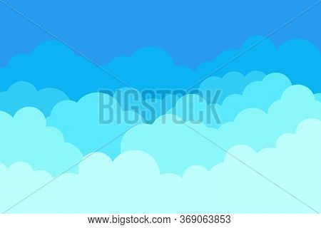Cloud In Sky. Pattern Of Blue Heaven. Cloudy Background. Cartoon Cloud Wallpaper. Abstract Summer Il
