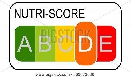 Nutri-score Label Level D, 5-colour Nutrition Label - Illustration