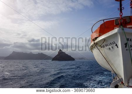Mindelo/cape Verde - August 11, 2018 - Sao Vicente Island View From The Sea