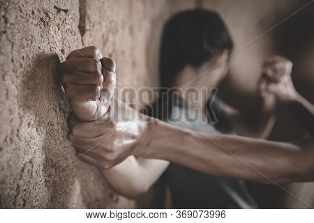 Image For Rape And Sexual Abuse Concept.sexual Abuse Is A Problem Or Social Issues Concept. Male Han