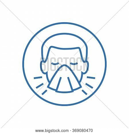 Man Face With Mask Icon Vector In Trendy Flat Style Isolated On White Background.