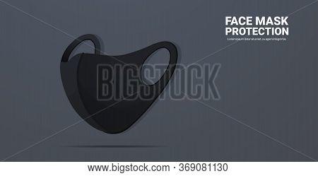 Black Antiviral Medical Respiratory Face Mask Coronavirus Protection Covid-19 Prevention Health Care