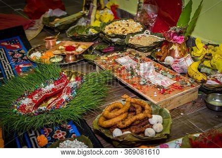 Details Of Hindu Marriage Wedding Ceremony.hindu Wedding Rituals.selective Focus