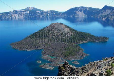 Wizard Island, Crater Lake Oregon