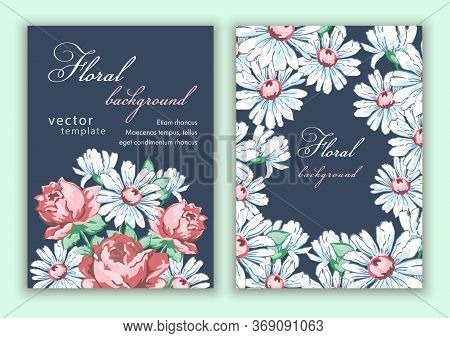 Template Double Sided Cover, Poster, Greeting Card, Invitation, Banner, Flyer With Colorful Abstract
