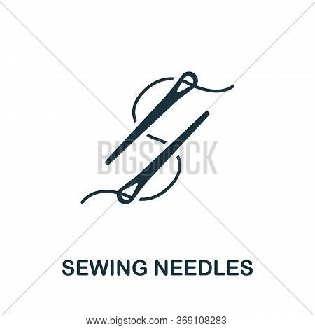 Sewing Needles Icon. Simple Illustration From Sewing Equipment Collection. Creative Sewing Needles I