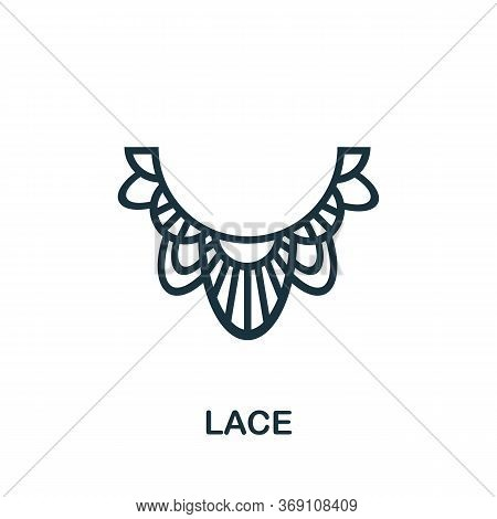 Lace Icon. Simple Illustration From Sewing Equipment Collection. Creative Lace Icon For Web Design,