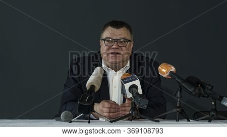 Minsk, Belarus - 05.20.2020: Press Conference Of Victor Babariko. Contender For The Post Of Presiden