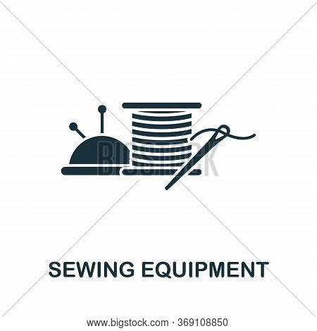 Sewing Equipment Icon. Simple Illustration From Sewing Equipment Collection. Creative Sewing Equipme