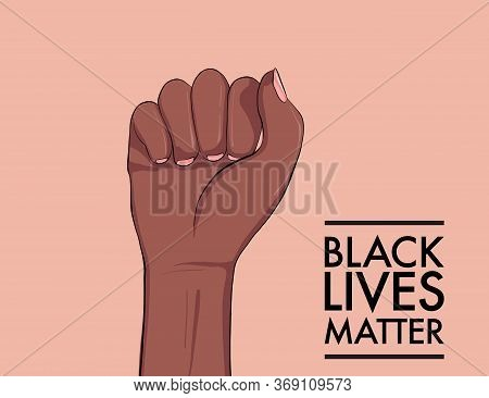 Stop Racism. Black Lives Matter. African American Arm Gesture. Anti Discrimination, Help Fighting Ra