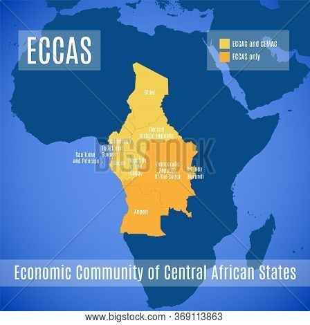 Map Of The Economic Community Of Central African States (eccas).