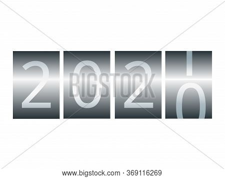 New Year Counter. Calendar For 2020-2021, Stylized As A Taxi Counter.