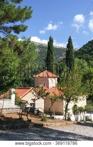Historical Church Of Agia Lavra At Kalavryta Village In Greece