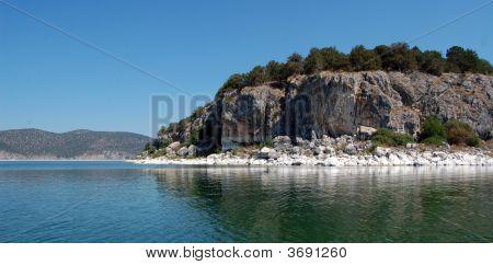 Island Goloem Grad On Lake Prespa