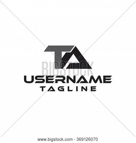 Medieval Monogram Ta Logo Linked Initials T And A Vector
