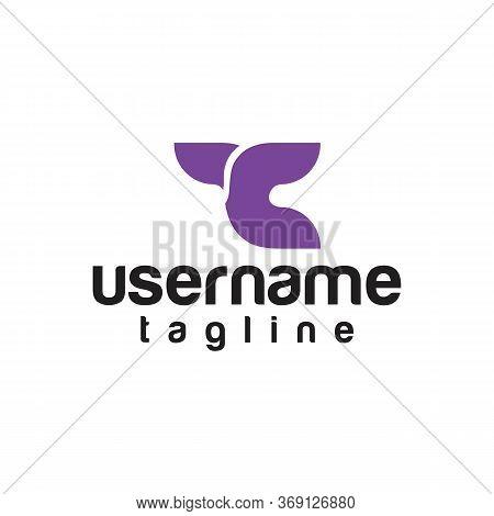 Tc T C Dots Letter Logo With Purple Bubbles Vector