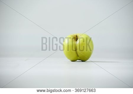 Apple Like Ass, Great Design For Any Purposes. Fresh Fruit. Food Background. Sweet Fruit. Sweet Food