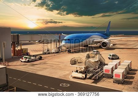 Image Related To Travel And Commercial Transport.travel By Plane And Airport