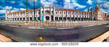 Tour Tourism And Landmark In Lisbon,portugal.architecture And Famous Places.the Hieronymites' Monast