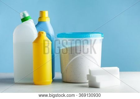 Cleaning Products For Cleaning, Disinfection Of The House. The Concept Of Cleaner, The Cleaning Comp