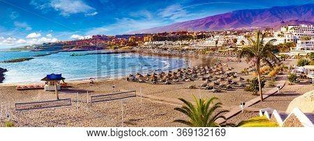 Scenic Landscape Costa Adeje.tenerife, Canary Islands, Spain