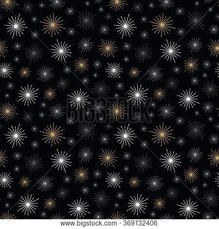 Grey Gold Geo Brilliance Shape Night Small Black Background Design