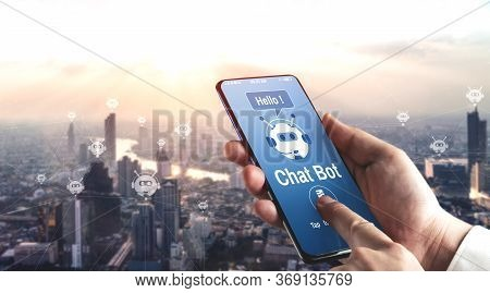 Ai Chatbot Smart Digital Customer Service Application Concept.