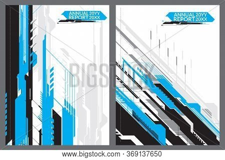 Blue Hitech Cover For Annual Report, For Your Best Cover