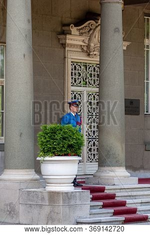 Guard Of Honor Of Serbian Guard At The Presidential Palace In Belgrade, Serbia