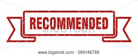 Recommended Grunge Ribbon. Recommended Sign. Recommended Banner