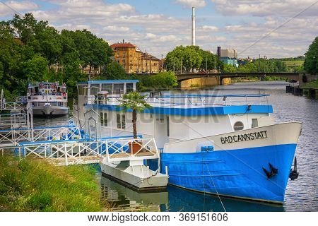 Stuttgart,germany - May 31,2020:bad Cannstatt This Is A Touring Ship,which Transports Tourists Along