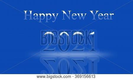 2021 Happy New. Chinese New Year. Postcard. Metal Bull. Year Of The Steel Bull. Horoscope Sign. Horo