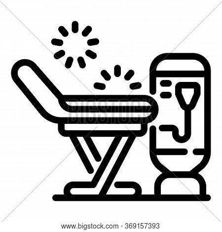 Laser Remove Hair Armchair Icon. Outline Laser Remove Hair Armchair Vector Icon For Web Design Isola