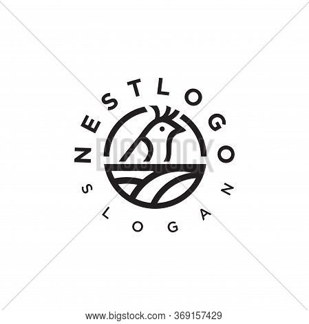 Nest Logo Vector Stock Modern Simple Vector. Bird Nest Logo Design Template.