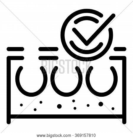 Remove Hair Skin Icon. Outline Remove Hair Skin Vector Icon For Web Design Isolated On White Backgro