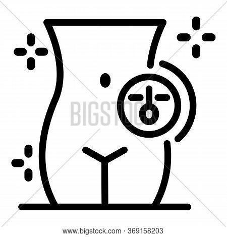 Bikini Depilator Icon. Outline Bikini Depilator Vector Icon For Web Design Isolated On White Backgro