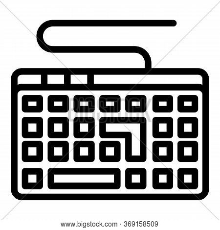 Programming Keyboard Icon. Outline Programming Keyboard Vector Icon For Web Design Isolated On White