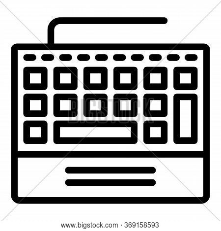 Control Keyboard Icon. Outline Control Keyboard Vector Icon For Web Design Isolated On White Backgro