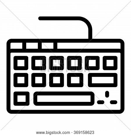 Digital Keyboard Icon. Outline Digital Keyboard Vector Icon For Web Design Isolated On White Backgro