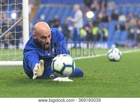 London, England - April 22, 2019: Willy Caballero Of Chelsea Pictured Ahead Of The 2018/19 Premier L