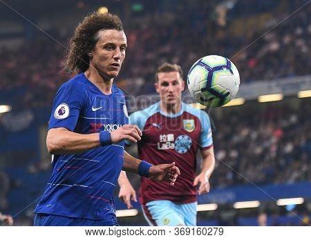London, England - April 22, 2019: David Luiz Of Chelsea Pictured During The 2018/19 Premier League G