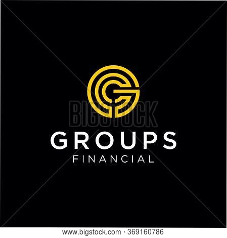 Abstract Circle Letter G Logo Line Design Business Consulting Industrial Template. Round Initial G L