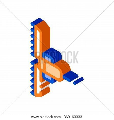 Agronomy Cultivator Trailer Vector Isometric Sign. Color Isolated Symbol Illustration