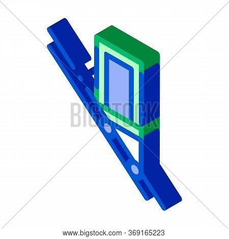 Public Transport Inclined Elevator Vector Isometric Sign. Color Isolated Symbol Illustration