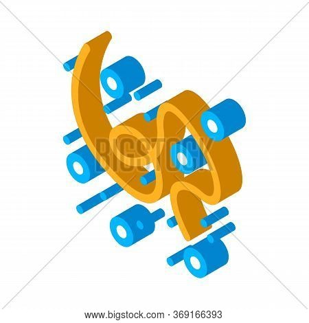 Microscopic Bacterium Organism Vector Isometric Sign. Color Isolated Symbol Illustration