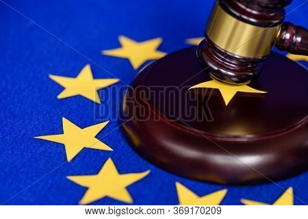 Collapse Of The European Union. Uk Exit From Europe. Concept Of The Right To Exit Their Eu.judges Ga